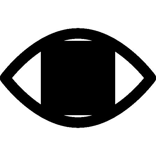 Icon of an eye with circular arrow